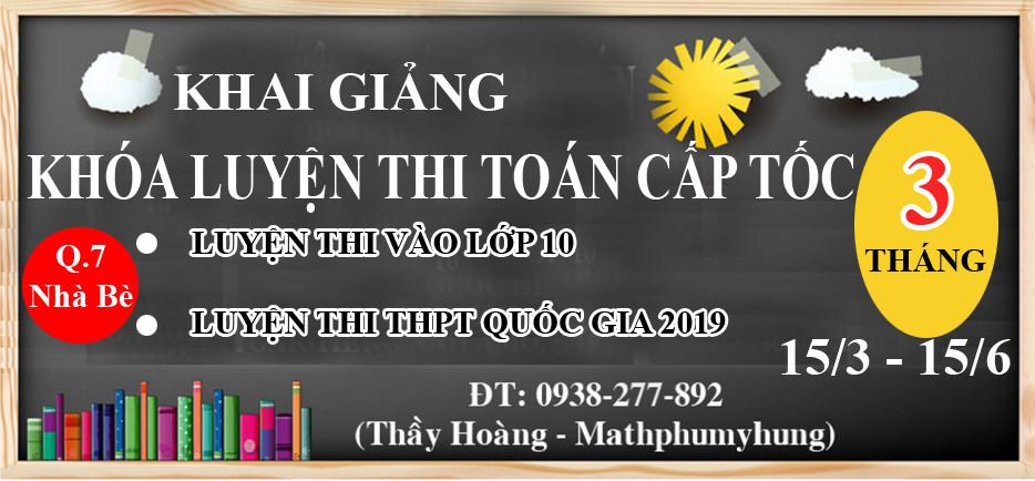 Khai giang lop toan luyen thi cap toc 2019