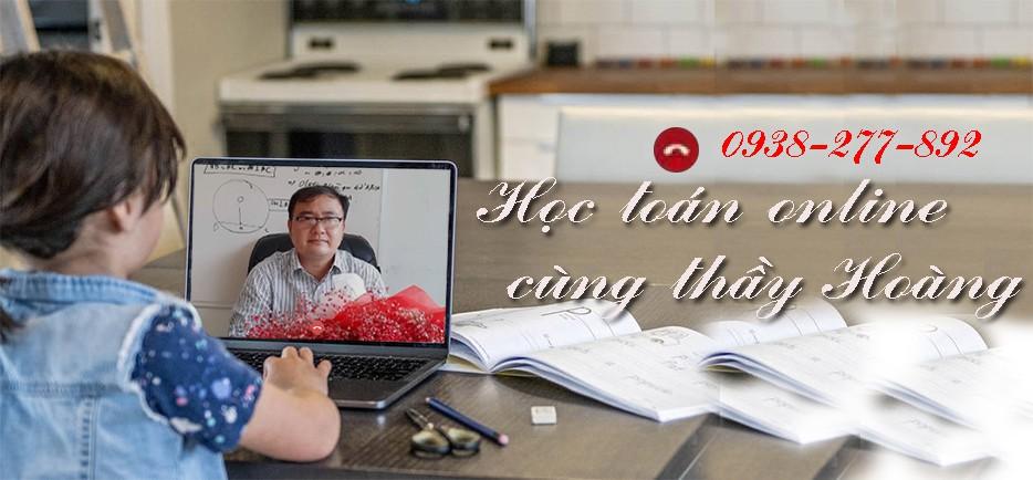 Học toán online cùng thầy Hoàng